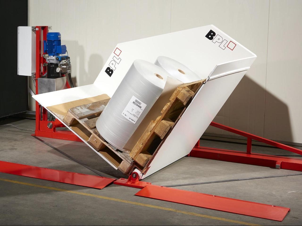 pallet inverter machine